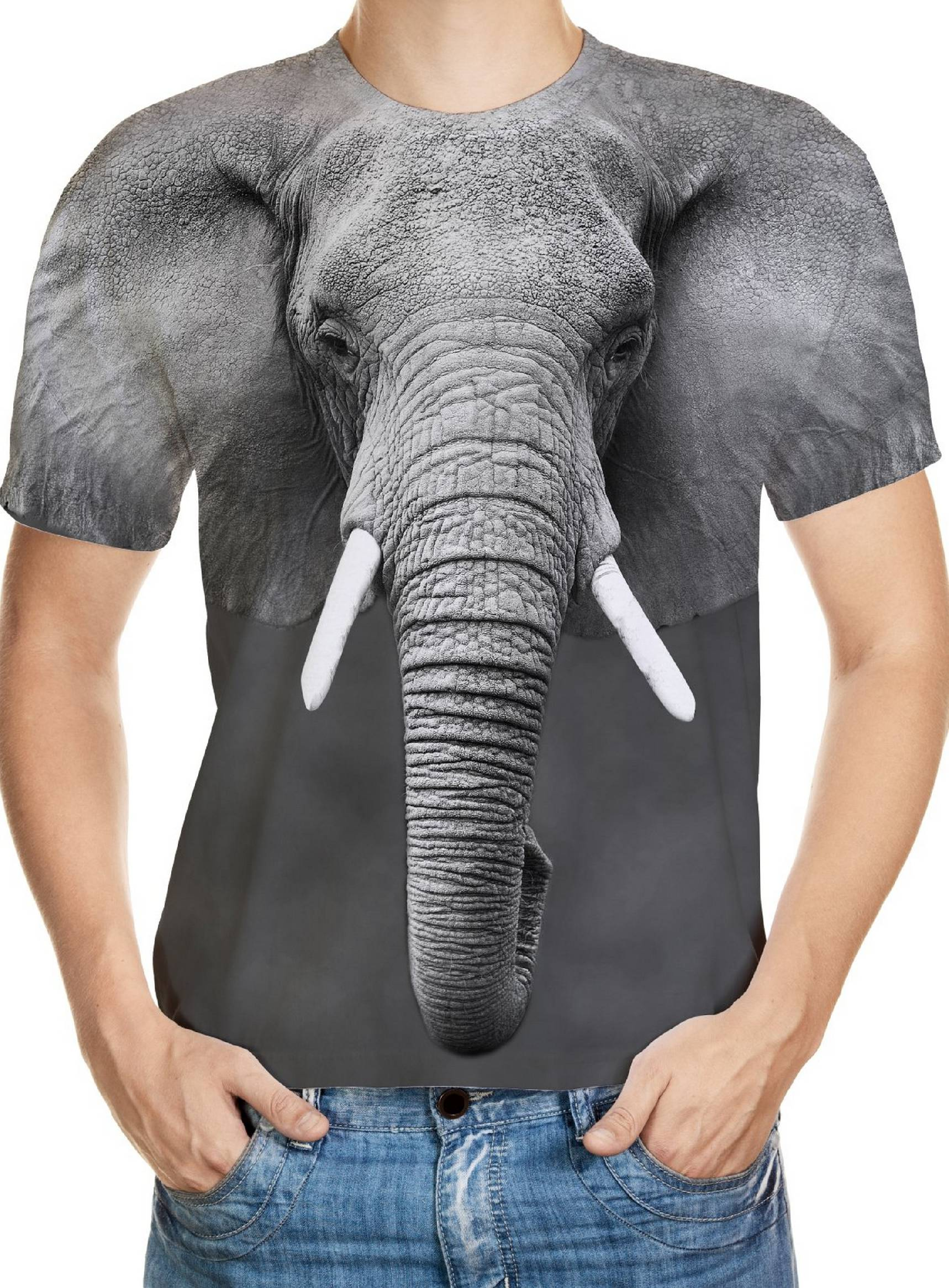 c06c8b17 Elephant Designed 3D T-Shirt