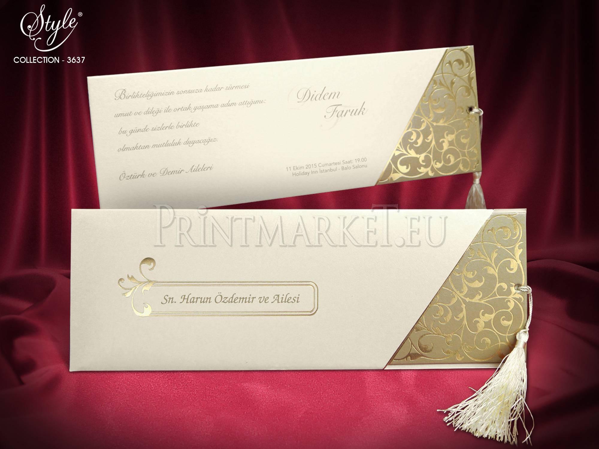 Style Lux Wedding Card 3637