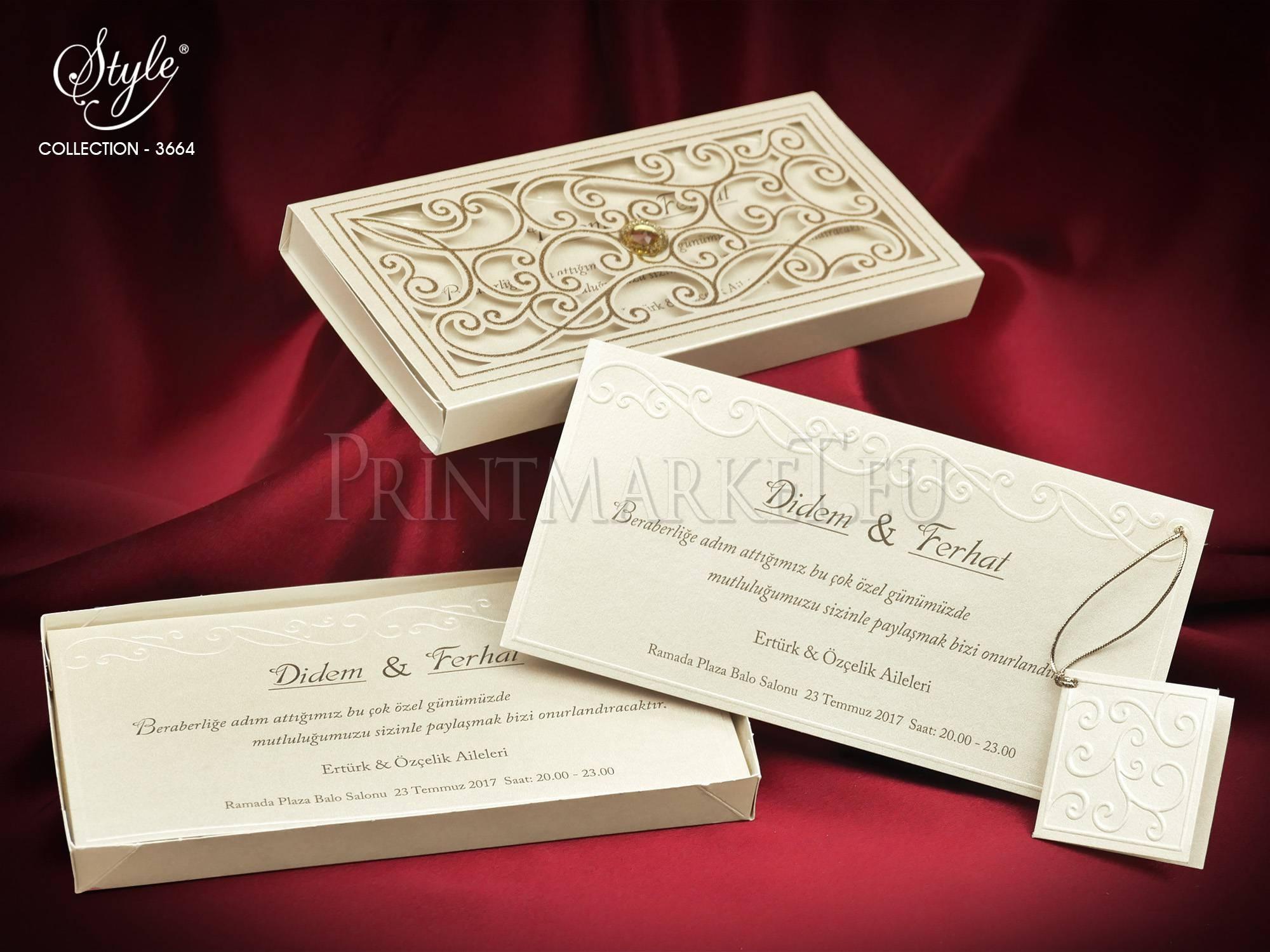 Style Lux Wedding Card 3664