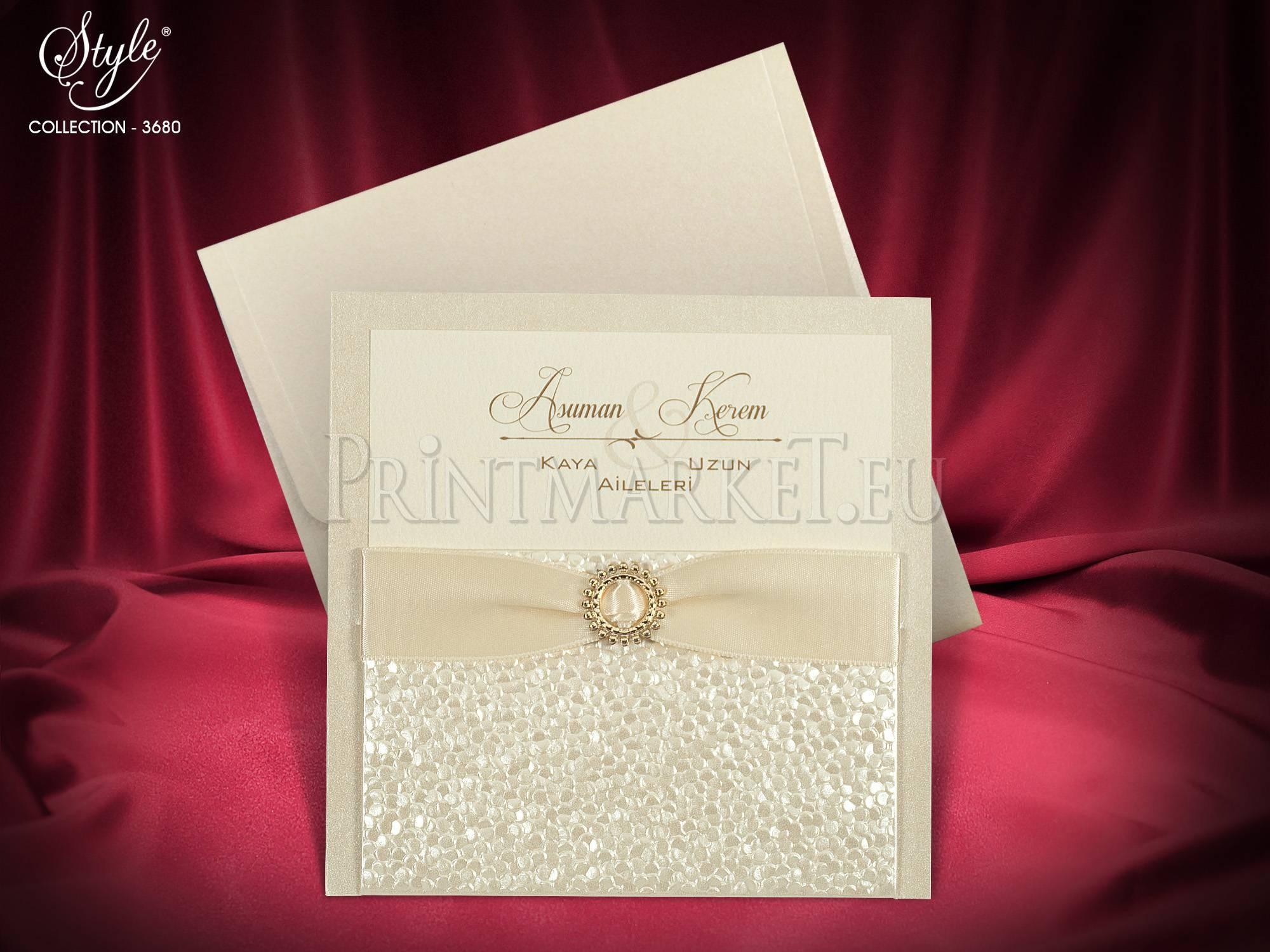 Style Lux Wedding Card 3680