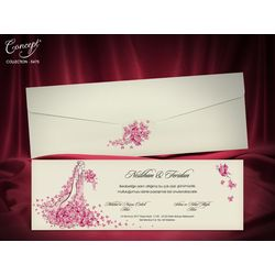 Flower design, a special wedding card