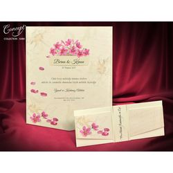 Flower design wedding card