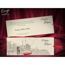 Istanbul design, love theme wedding card