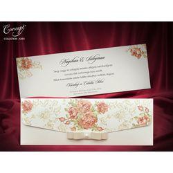 Rose designed wedding card