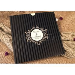 Black design wedding card