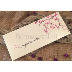 spring flower wedding card