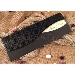 Black wedding marriage card