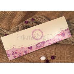 pink flower wedding card