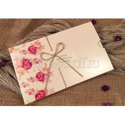 Red rose wedding card