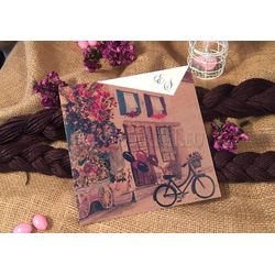 Bike design wedding card