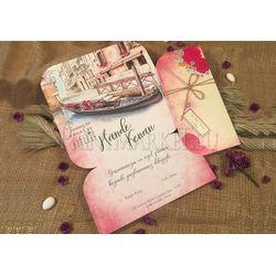 Venice design wedding card