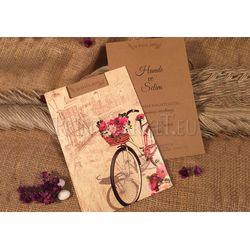 Bicycle design wedding card
