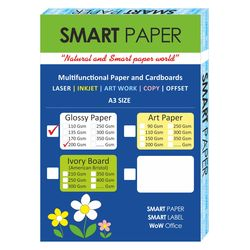 Coated Glossy Paper A3, 200 Gsm 75 pcs
