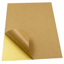 Kraft Papers Sticker 100 Sheet A4 Self-Adhesive