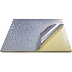 Metallic Silver, Laser Printing Sticker A4