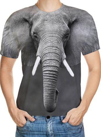 Elephant Designed 3D T-Shirt