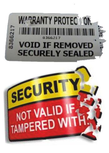Warranty and Security Sticker A4